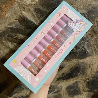 Set 12 cây son kem Hengfu Unicorn Color - Cavali - Chất son kem lì mịn, dưỡng mềm môi, lâu trôi thumbnail