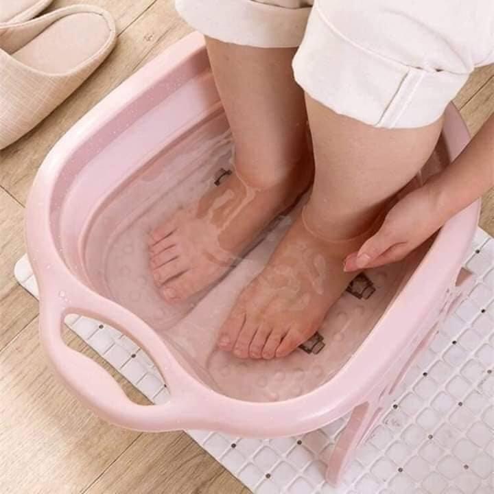 Chậu ngâm chân, massage gấp gọn thông minh, tiết kiệm diện tích, Chau ngam chan, massage gap gon thong minh cao cấp