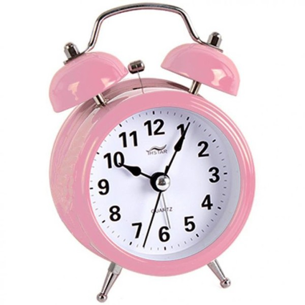 Nơi bán đồng hồ báo thức để bàn chuông sắt chuông siêu to, hàng cao cấp, sử dụng pin tiểu 3A rất tiết kiệm năng lượng