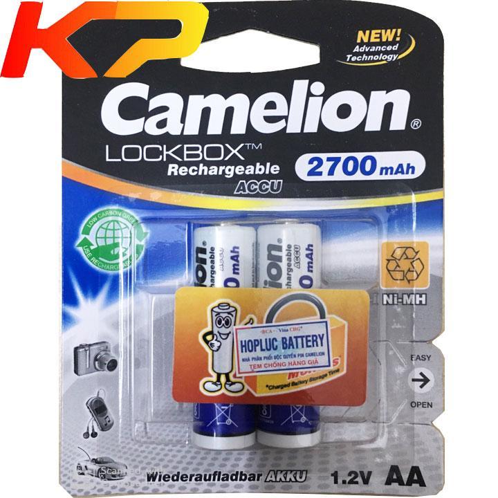 Pin AA sạc 2700 mah camelion (vỉ 2 viên)