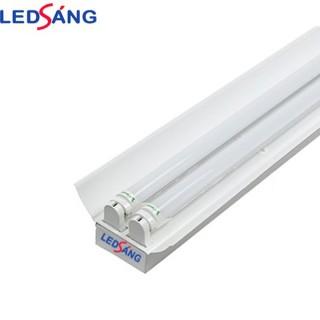 Máng đèn led 1.2m chóa đôi - Máng đèn led 1.2m đôi - Máng đèn có chóa sơn tĩnh điện 1.2m LEDSANG thumbnail