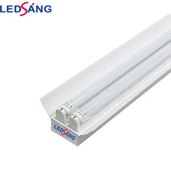 Bảng giá Máng đèn led 1.2m chóa đôi - Máng đèn led 1.2m đôi - Máng đèn có chóa sơn tĩnh điện 1.2m LEDSANG