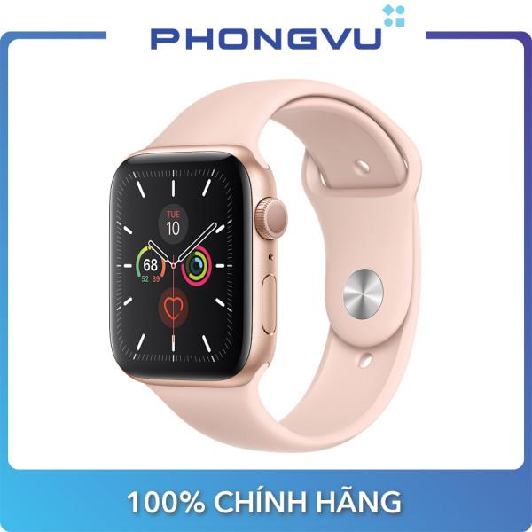 Đồng hồ thông minh/Apple Watch Series 5 GPS, 44mm Gold Aluminium Case with Pink Sand Sport Band - Bảo hành 12 tháng