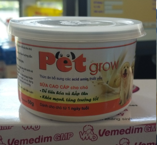 Sữa chó con PET GROW (không tiêu chảy) (Lon 50g)