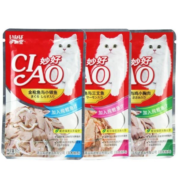 Combo 6 hoặc 12 gói Pate CIAO Cho Mèo 60g - Pets Time