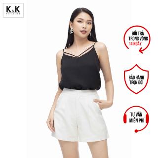 Quần Short Công Sở Nữ Màu Trắng Có Túi K&K Fashion QCS02-10 thumbnail