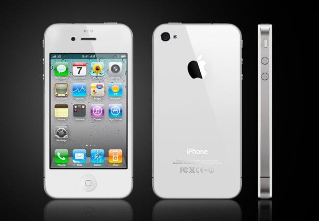 Điện thoại smartphone giá rẻ - I phone IP 4 - 8GB phiên bản quốc tế - tặng dây sạc (trắng/đen)