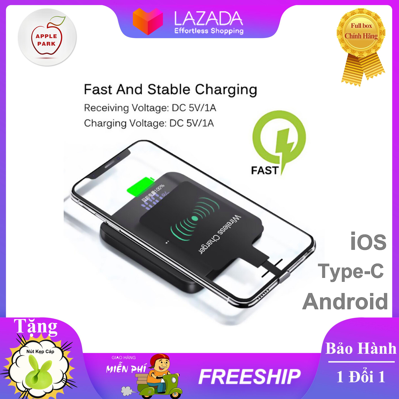 Miếng Dán Hỗ Trợ Sạc Không Dây Chuẩn Qi Đầu Android/Type-C/Lightning iPhone Chuyên Dùng Cho Các Dòng Máy Không Có Chức Năng Sạc Không Dây