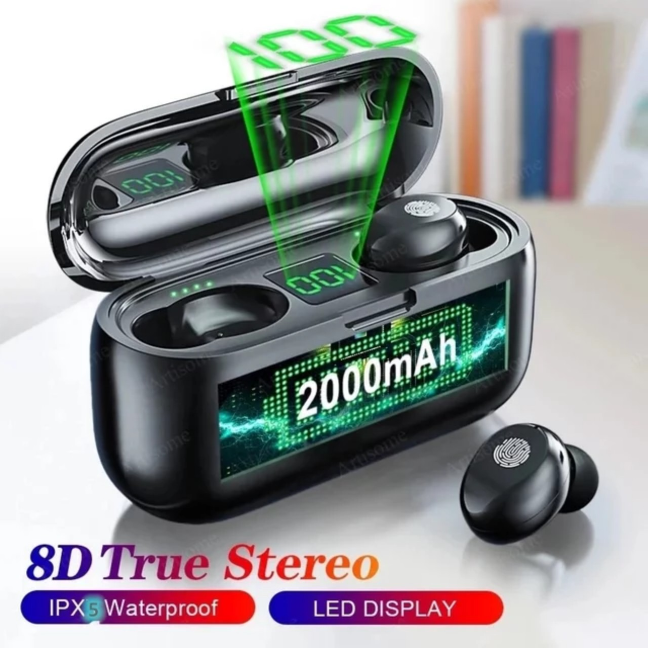 [XẢ KHO 3 NGÀY] Tai Nghe Bluetooth Không Dây AMOI F9 Phiên Bản Pro Quốc Tế Kiêm Pin Sạc Dự Phòng Điện Thoại 2000 mAh - Tai Nghe Bluetooth Mini - Tai Nghe Bluetooth Không Dây Hay Hơn i7s, i9s, i11, i12