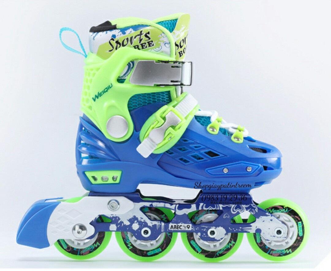 Giá bán (Tăng bảo hộ)  Giày trượt patin trẻ em cao cấp bánh phát sáng/ shopgiaypatin