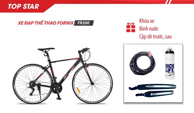 Phân phối Xe đạp thể thao FR200-Vòng bánh 700C- Bảo hành 12 tháng + (gift) Bình nước, Khóa xe cao cấp, Cặp dè