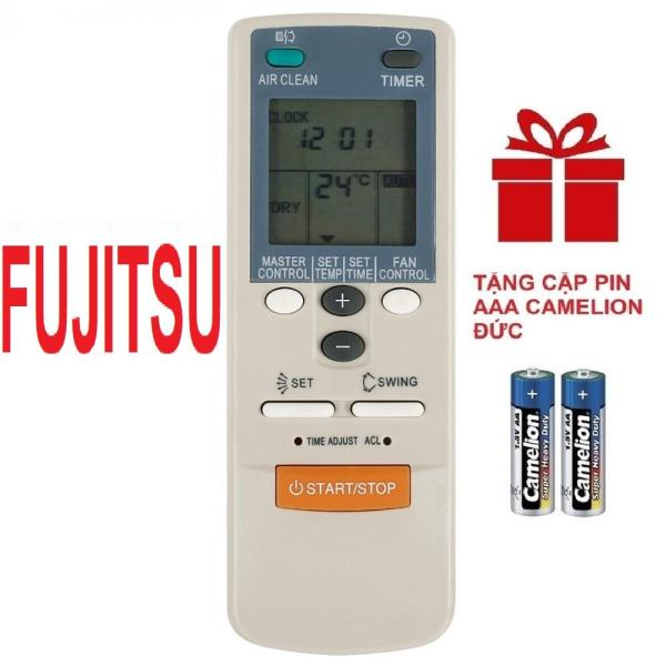 Remote điều khiển máy lạnh điều hòa FUJITSU mẫu 1 (HÀNG XỊN - TẶNG PIN)