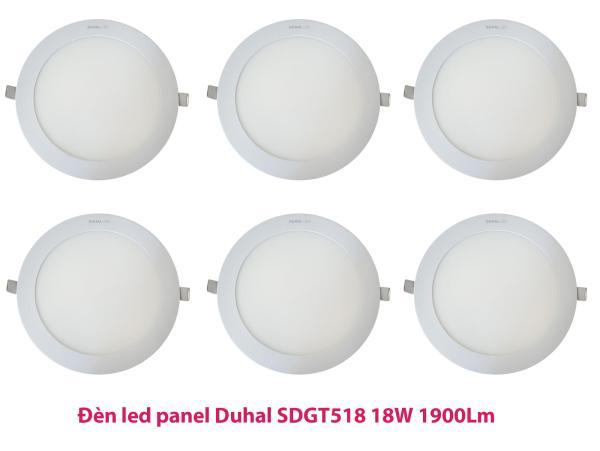 Bộ 6 Đèn led panel Duhal SDGT518 18W 1900Lm