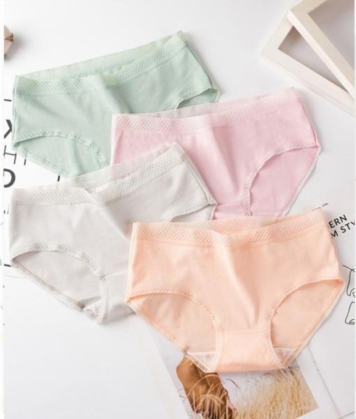 Bộ 10 Quần lót Cotton viền ren mềm  mịn, thoáng mát QL - 09