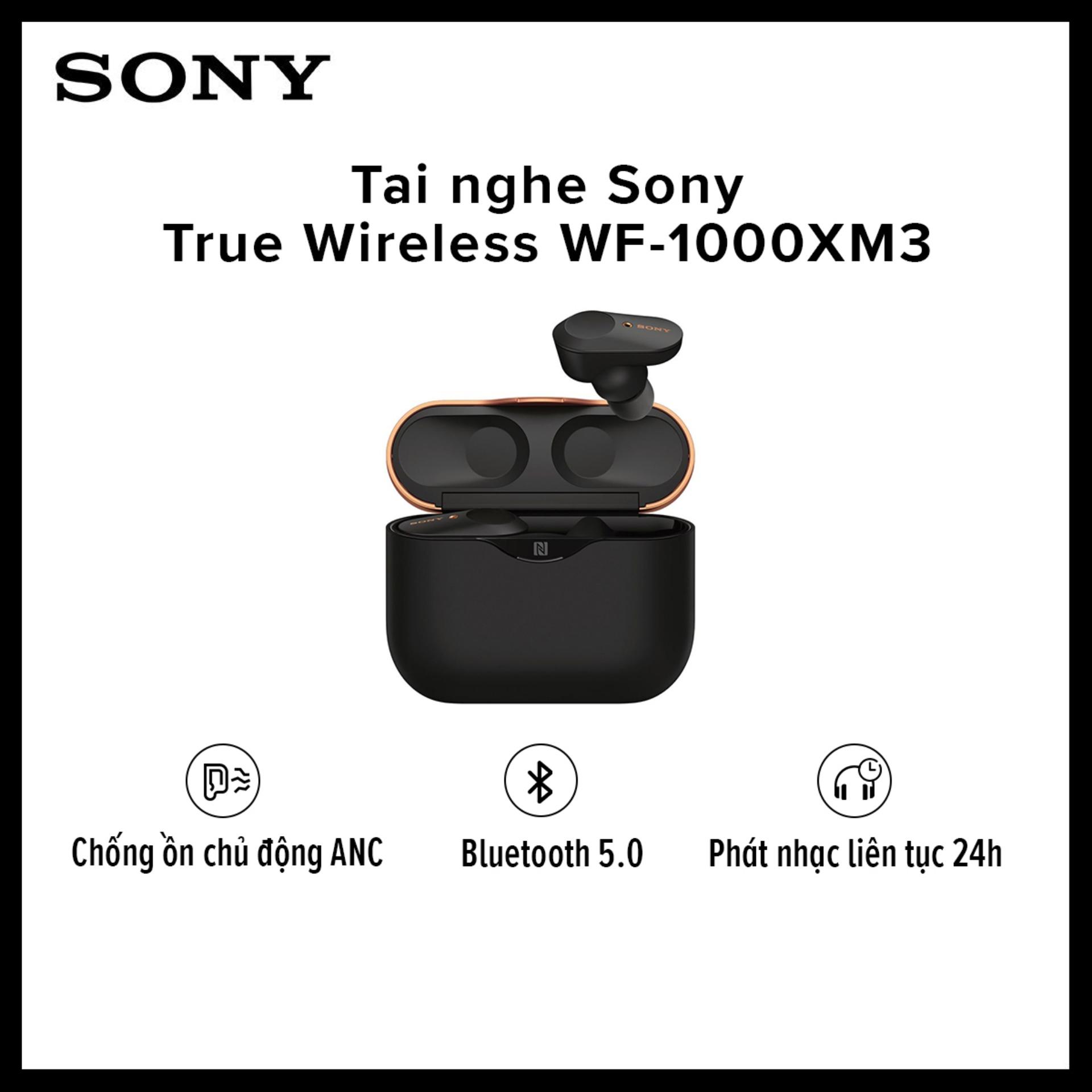 [TRẢ GÓP 0% - HÀNG CHÍNH HÃNG] Tai Nghe Sony True Wireless WF-1000XM3 L Bluetooth V5.0 L Chống ồn Chủ động L Trợ Lý Giọng Nói Google Assistant L Phát Nhạc Liên Tục 8h Với Giá Sốc