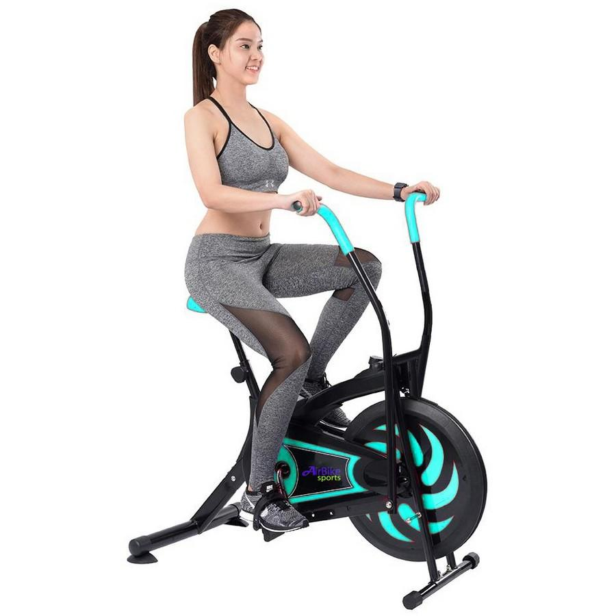 Xe đạp tập thể dục Air Bike MK109 (Màu xanh đen)