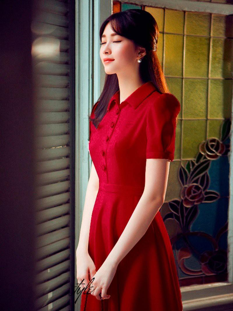 Đầm phong cách Vintage cổ sơ mi Misa Fashion MS320 - Lịch thiệp và quý phái
