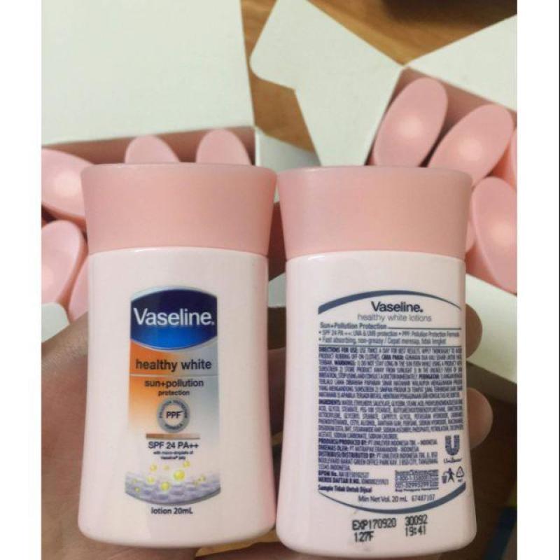 Combo 5 chai sữa dưỡng thể vaseline 20ml