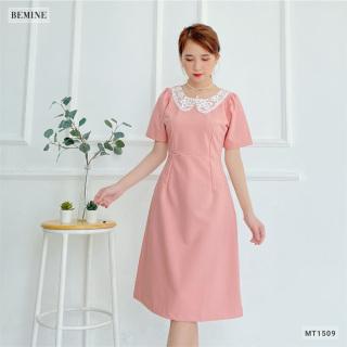Đầm xòe cổ phối ren BEMINE MT1509HONG thumbnail