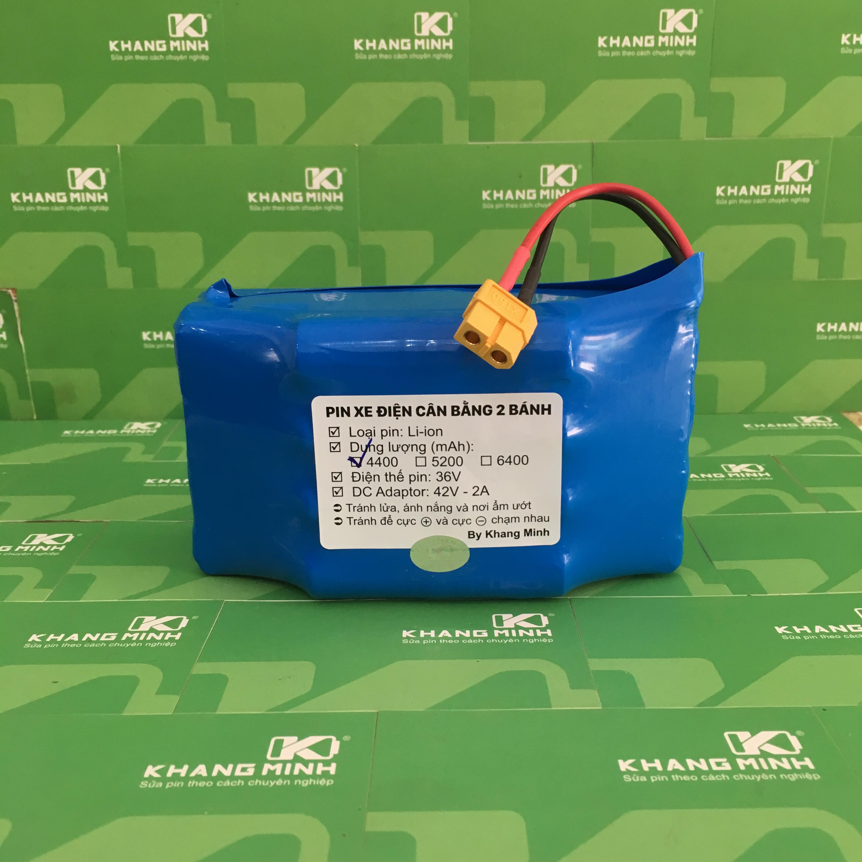 Mua Pin xe điện cân bằng 2 bánh 36V 4.0Ah cảm kết dung lượng chuẩn, dòng xả cao