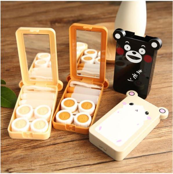 Giá bán Khay Gương Đựng Lens Đôi Có 2 Khay Mini 2 Chai Đựng Nước Ngâm Đầy Đủ Kẹp Gắp Và Dụng Cụ Đeo Lens ( 3 SET Như Hình 100 % )