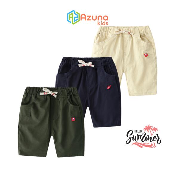 Quần Kaki bé trai AZUNA WELLKIDS quần short cho bé  – P1006
