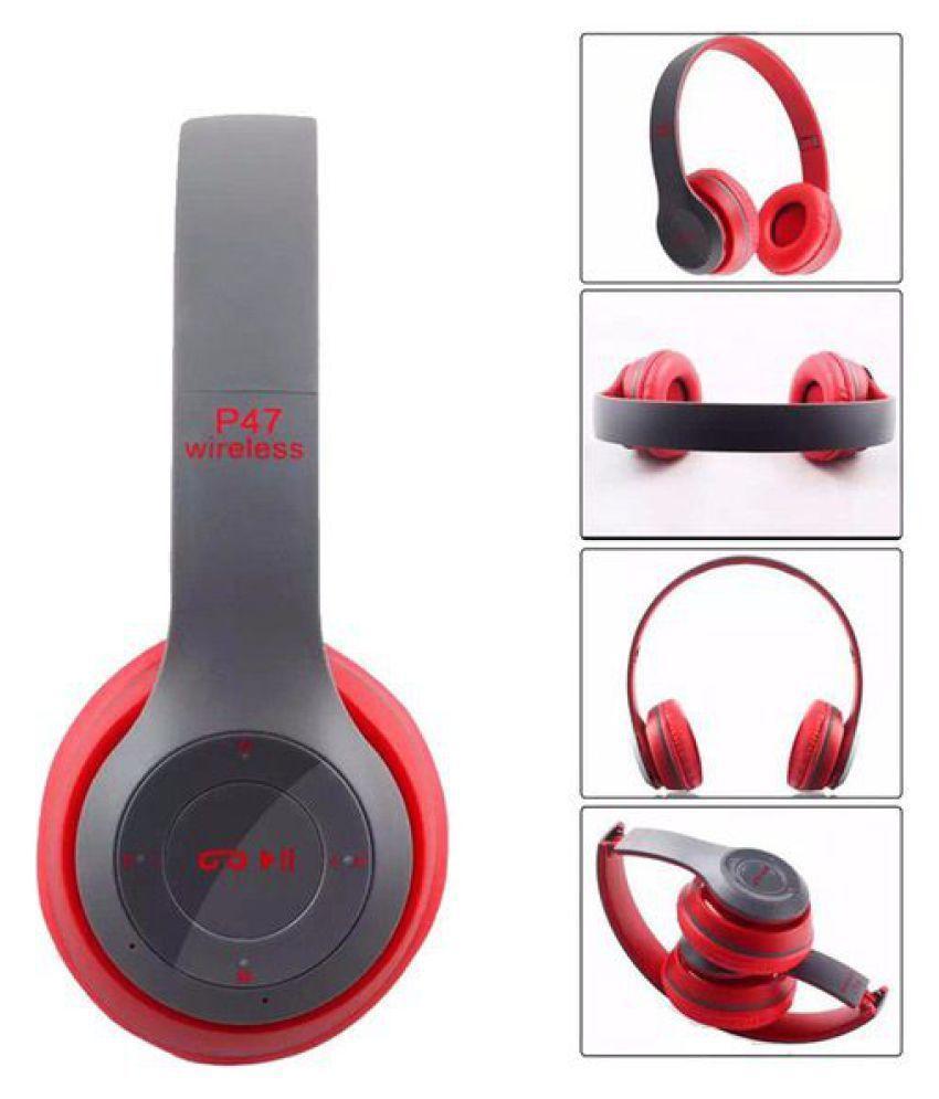 (XẢ KHO 3 NGÀY) Tai Nghe Chụp Tai Bluetooth P47 Cao Cấp Có Khe Thẻ Nhớ Bluetooth SIÊU BASS Có Giá Ưu Đãi
