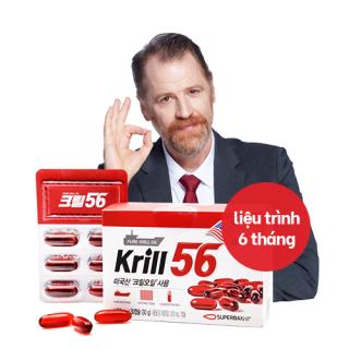 Dầu nhuyễn thể KRILL 56 cao cấp - Red Omega 3 công nghệ mới - liệu trình 6 tháng 6 hộp Hàn Quốc thumbnail