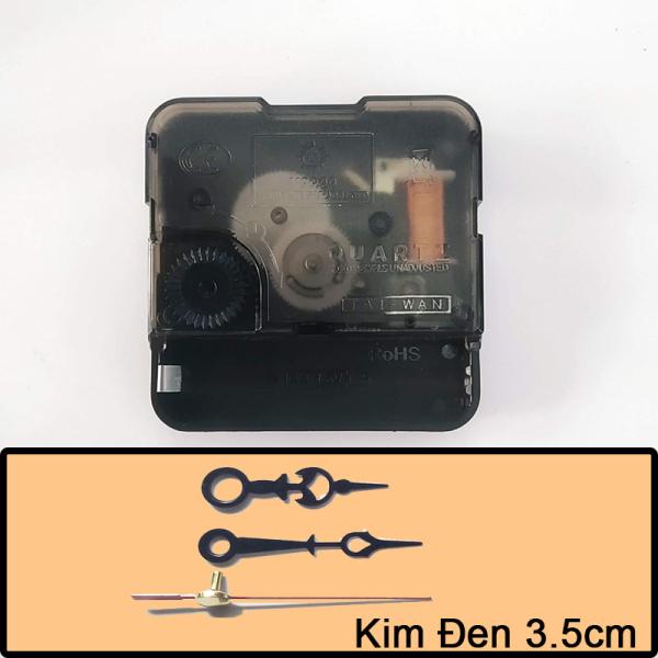 Nơi bán Bộ kim đen 3.5cm và Máy đồng hồ treo tường Kim Giật - Trục 5mm