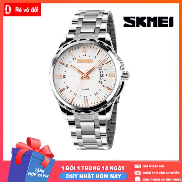 Nơi bán DUY NHẤT HÔM NAY - Đồng hồ nam SKMEI thời trang lịch lãm sang trọng, mặt kính dây thép kim loại đúc đặc chính hiệu - Tặng kèm hộp và Pin - Sams Shop