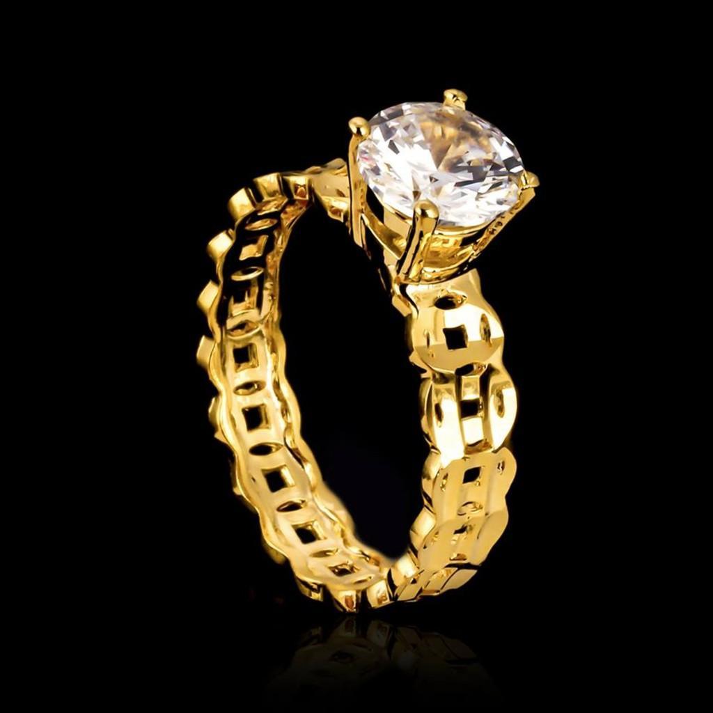 [ GIÁ SỐC ] Nhẫn Nữ Vàng, Nhẫn Nữ Kim Tiền đính đá Pha Lê Sáng Lấp Lánh May Mắn Chạm Vàng Sắc Sảo Thiết Kế Thời Trang Trang Sức Gadoshop VN17091951 - đeo đi đám Cưới Vô Cùng Quý Phái Giá Siêu Rẻ