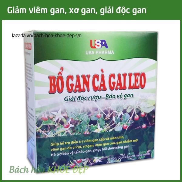 Viên uống Bổ Gan Cà Gai Leo mát gan, giải độc gan, hạ men gan - Hộp 60 viên dùng cho người từ 6 tuổi