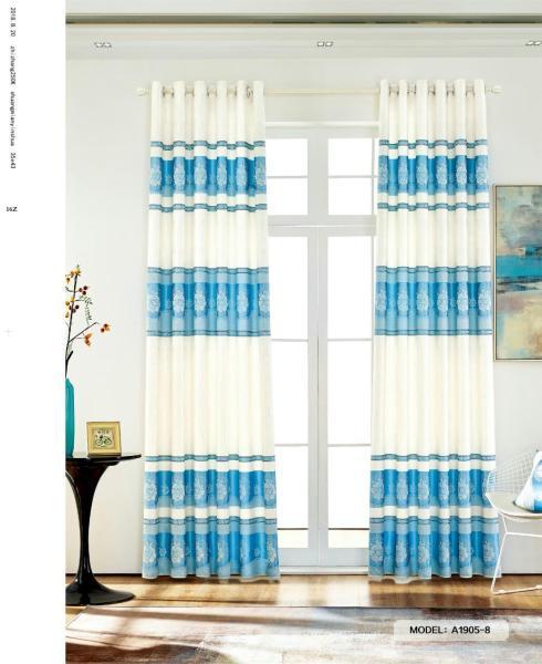 Màn Rèm Cửa Chính - Rèm Cửa Sổ - Vải Gấm HQ - Vải dày rủ đẹp - Kiểu Khoen Ore - Mẫu 1905-8 - Tuỳ chọn kích thước từ 150cm đến 500cm (Xanh Ngọc)