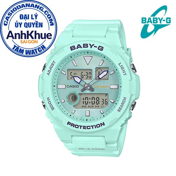 Đồng hồ nữ dây nhựa Casio Baby-G chính hãng Anh Khuê BAX-100-3ADR (42mm)