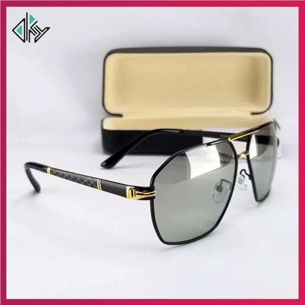 Mua Kính nam đổi màu dùng cả ngày và đêm - Video test đổi màu và UV400 - Mắt kính không viền, chống nắng, form ôm mặt - Bảo hành 12 tháng - Sunglasses for men