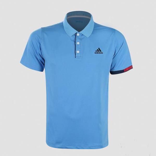 Áo thun nam Adidas màu xanh thiên thanh AT575