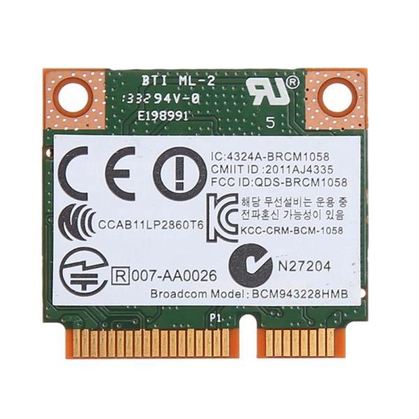 Bảng giá Dual Band 2.4+5G 300M 802.11A/B/G/N Wifi Bluetooth 4.0 Wireless Half Mini Pci-E Card For Hp Bcm943228Hmb Sps 718451-001 Phong Vũ
