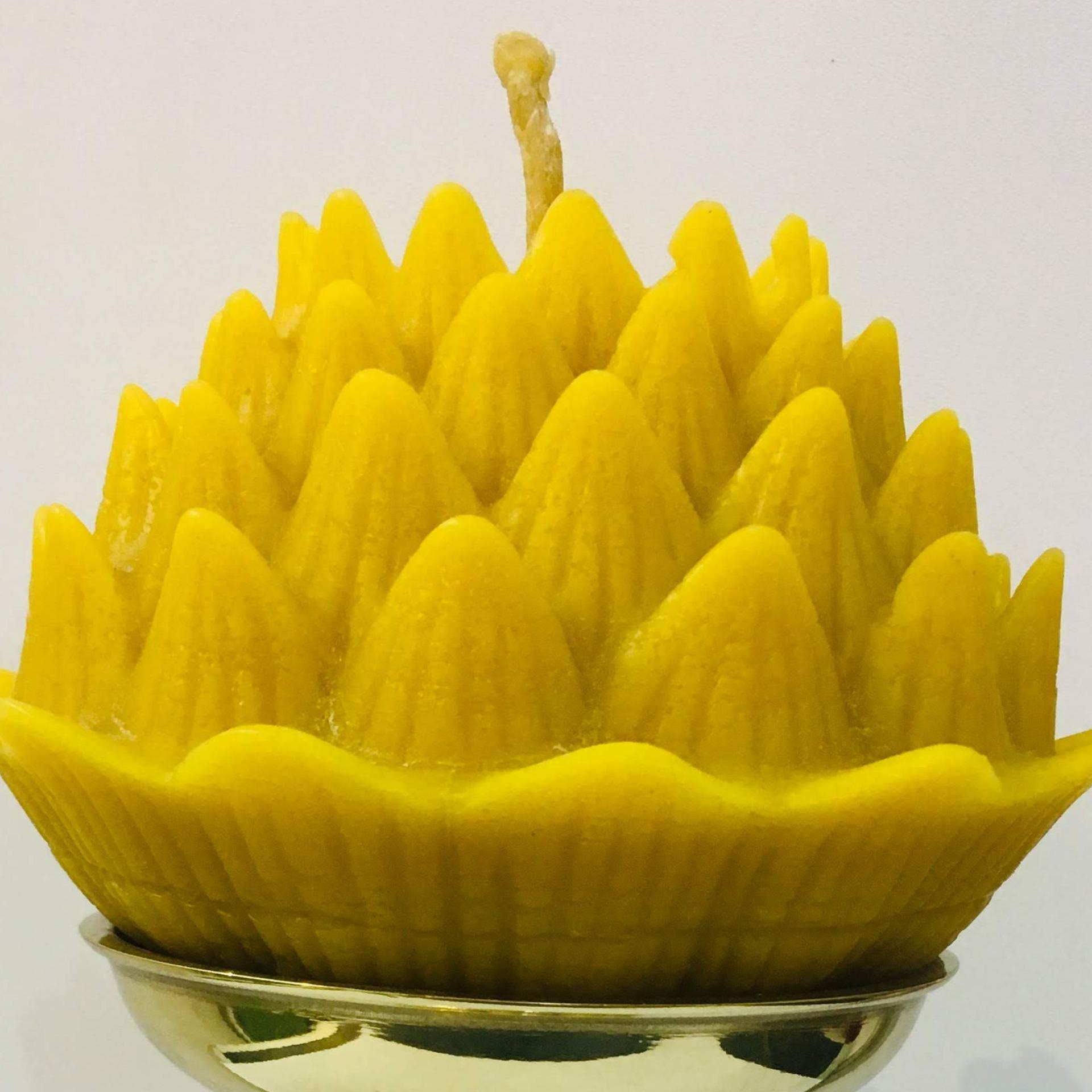 Nến hoa sen TRUNG sáp ong tự nhiên xuất khẩu chính hãng