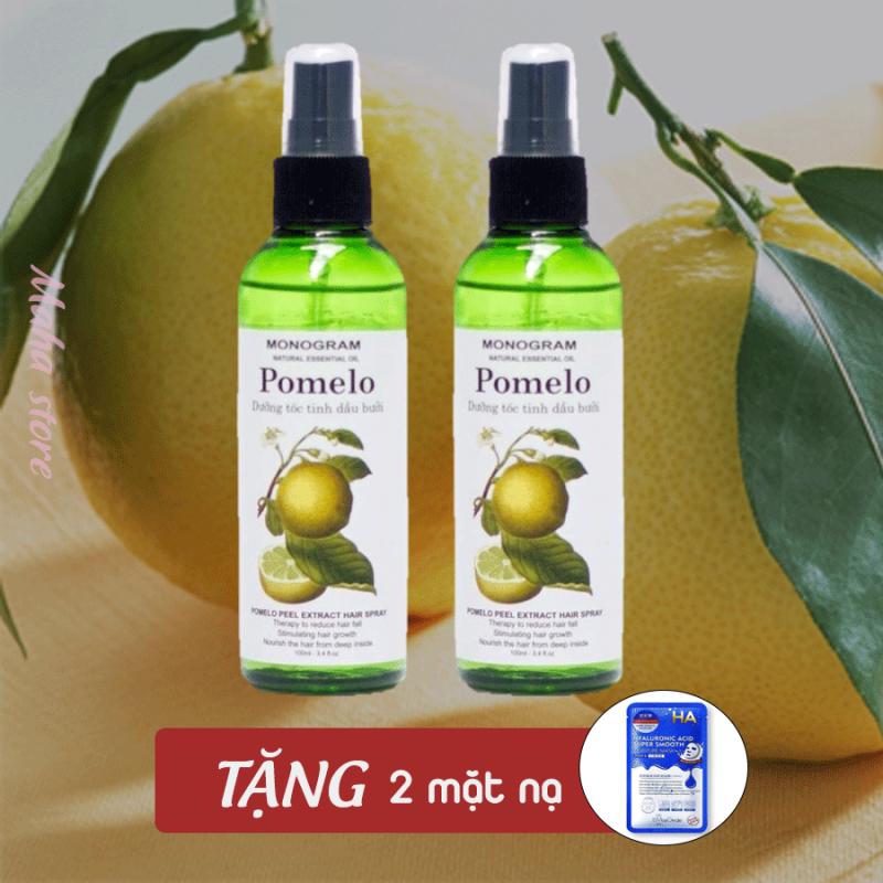 Combo 2 tinh dầu bưởi Pomelo giảm rụng tóc, kích thích mọc tóc [TẶNG 2 MẶT NẠ] cao cấp