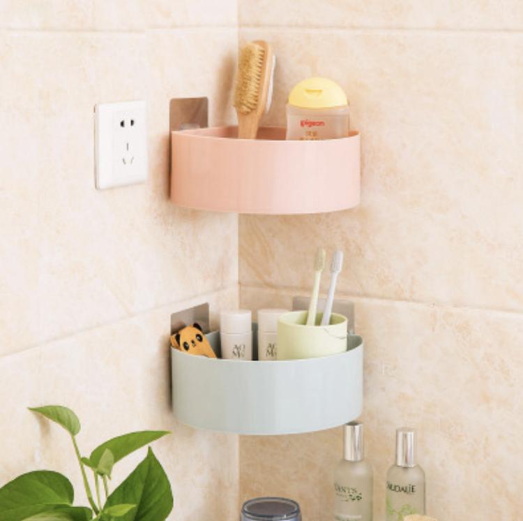 [HCM]Kệ để đồ nhà tắm dán tường chất liệu nhựa bền đẹp nhiều màu chọn lựa miếng dán chuyên dụng bản lớn chắc chắn tiện dụng dễ dàng cố định ở nhiều vị trí khác nhau