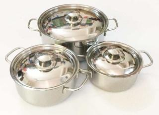 [SALE SINH NHẬT] Bộ 3 nồi inox SHARP nắp inox 24cm 20cm 16cm dùng dược bếp từ và mọi loại bếp , bộ ba nồi inox chắc chắn cao cấp thumbnail