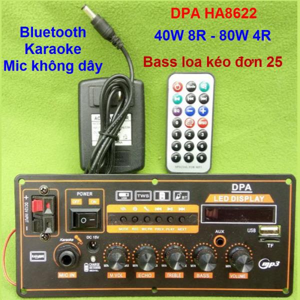 Mạch loa kéo DPA HA8622 nằm ngang công suất 40W 8R - 80W 4R Loa kéo 2.5 tấc - 3 tấc