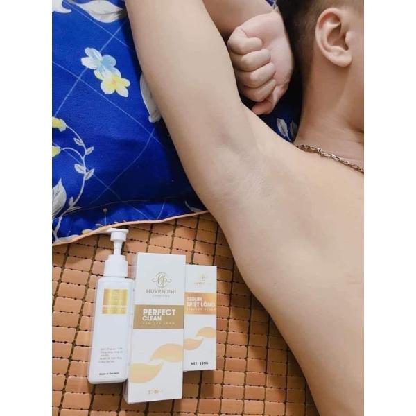 Kem Tẩy Lông Huyền Phi [ Mua 1 Tặng 1 Serum] triệt lông tận gốc,triệt mùi hôi nách GÍA GỐC , Triệt lông mu, lông nách, lông bikini, ria mép, râu nhập khẩu