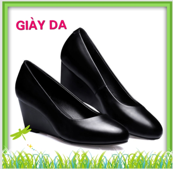 Giày da đế xuồng kiểu đơn giản giá rẻ