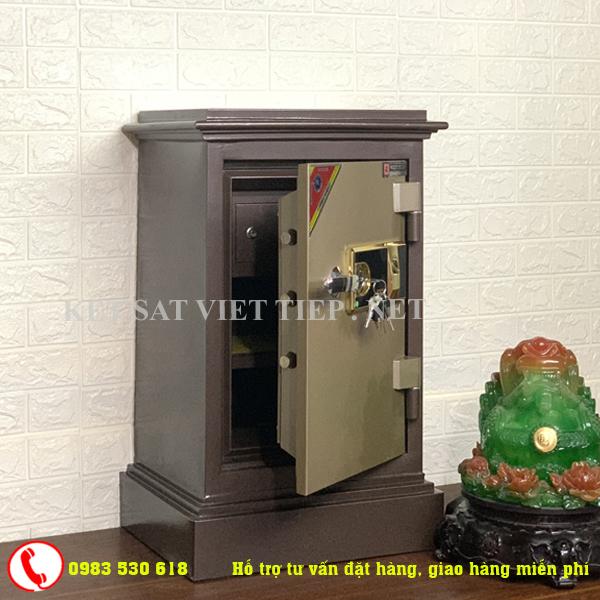 [CHINH HANG] Két sắt vân tay Việt Tiệp cao cấp KVT55- 85kg