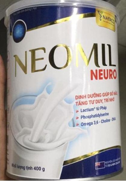 Sữa bột Neomil Neuro dành cho người tự kỷ, hộp 400g dinh dưỡng cho trẻ học tập căng thẳng, giảm stress,...