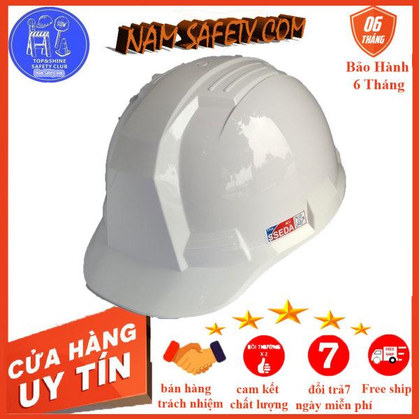 Mũ bảo hộ SSEDA Hàn Quốc ,nón bảo hiểm bảo vệ đầu có lót xốp ,núm vặn ,quai cài ,có tem chính hãng