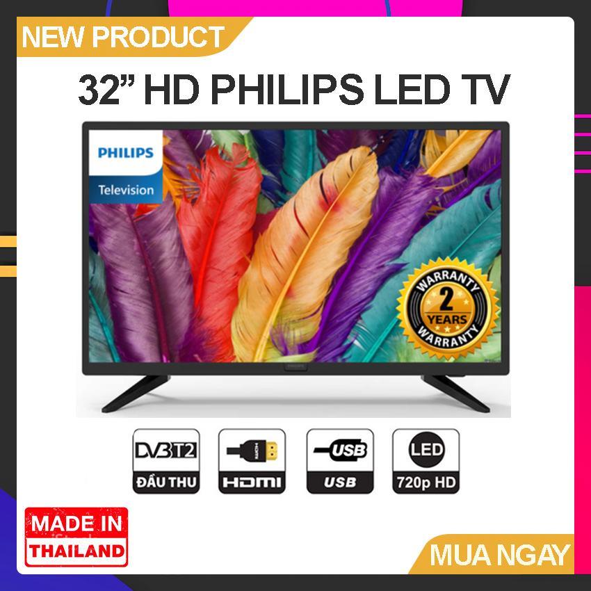 Bảng giá Tivi Led Philips 32 inch HD - Model 32PHT4003S/74 (Đen) Tích hợp DVB-T2 - Bảo Hành 2 Năm