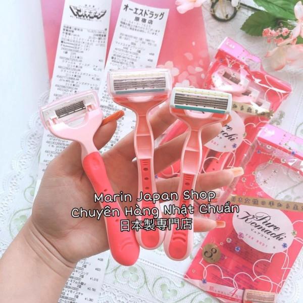 (Hàng Nhật Chuẩn) Dao chuyên dụng để cạo lông Body Dòng Pure Komachi hãng KAI hàng nội địa Nhật Bản