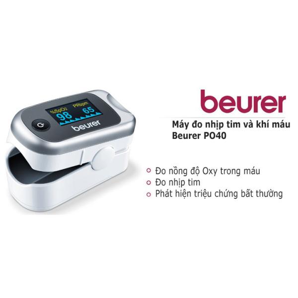 Nơi bán Máy đo nhịp tim và khí máu Beurer PO40 Bảo hành 2 năm CHÍNH HÃNG